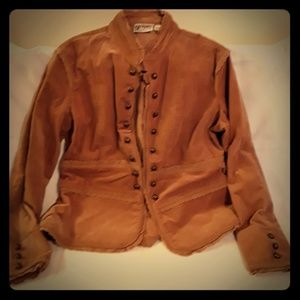 Vintage BILL Blass womens corduroy tan jacket sz L